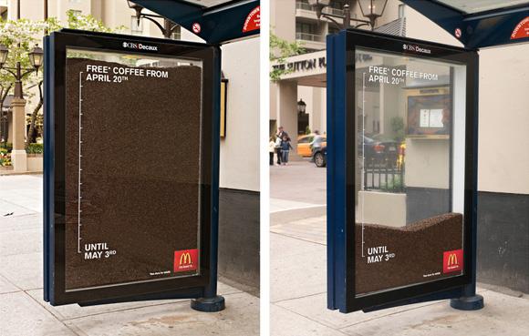 реклама на автобусной остановке